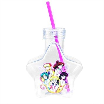 20oz OFFICIAL Sailor Moon Star-Shaped Tumbler Travel Cup GIFT with Glitter Lid & Acrylic Straw