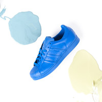 Pharrell Williams x adidas Superstar Supercolor Pack - Bold Blue