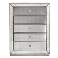 Omni Mirrored 5 Drawer Chest | Chests & Dressers | Bedroom | Furniture | Z Gallerie