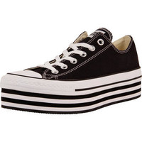 Converse Men's CT All Star Layer Cake Platform Sneaker in Black with White The Best Jeans and Sneaker Stores in America®