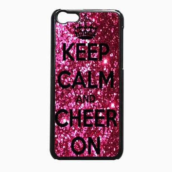 Keep Calm and Cheer On Cheerleading 98e8ac00-0d96-4990-a9c9-726518cf5d2e FOR IPhone 5C CASE *02*