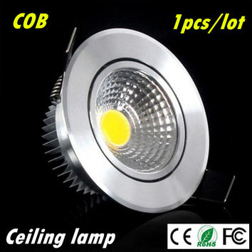 1pcs Super Bright Dimmable Led downlight light COB Ceiling Spot Light 3w 5w 7w ceiling recessed Lights Indoor Lighting