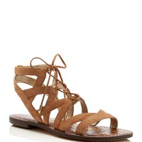 Sam EdelmanGemma Lace Up Flat Sandals