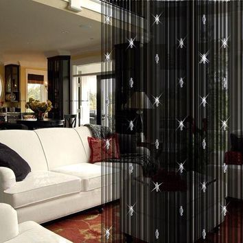 Elegant Style Decorative String Curtain With 3 Beads Tassels Fashion Door Window Panel Room Divider