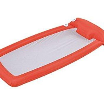 By PoolCentral 72.5 inch  Orange and White Mesh Inflatable Swimming Pool Lounge Float