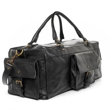 Authentic handmade in Italy Leather Duffel Carry-on bag