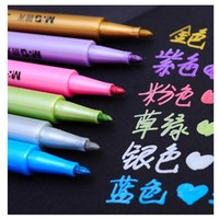 metal color marker pen water based ink silver gold paint pen quick dry 6 Colors Art Markers Pens