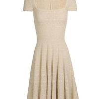 Browns fashion & designer clothes & clothing   AZZEDINE ALAÏA   Crochet knit dress with fluted skirt