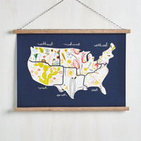 Dorm Decor Enjoy the Greenery Hanging Map by ModCloth