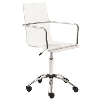 Chloe Office Chair, Acrylic / Lucite, Desk Chairs