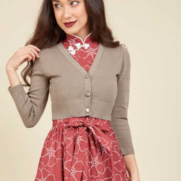 Bistro Intentions Cardigan in Mocha | Mod Retro Vintage Sweaters | ModCloth.com