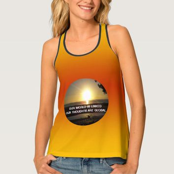 Global Quote by Kat Worth Tank Top
