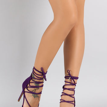 Shoe Republic LA Corset Lace Up Pointy Toe Pump