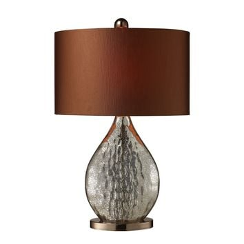 D1889 Sovereign Table Lamp In Antique Mercury And Coffee Plating - Free Shipping!