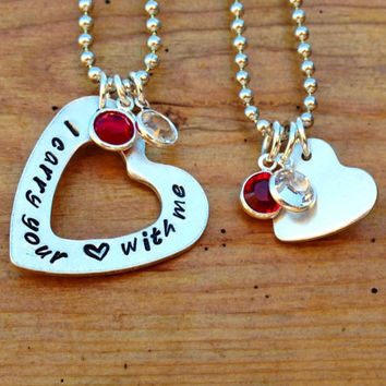 I carry your heart with me  Mother and by KennabelleDesigns