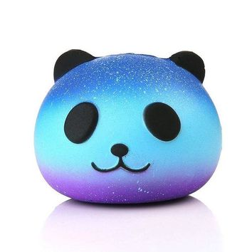 VONFC9 HOT Funny Kids Baby Toys 10CM Panda Cream Scented Infant Sky Blue Stress Relief Toys Squishy Slow Rising Squeeze Kid Charm Gift