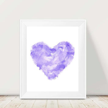 Abstract Print, 11x14 Watercolor Print, Girls Room, Purple Nursery Decor, Modern Nursery Art, Abstract Wall Art, Purple Painting for Kids