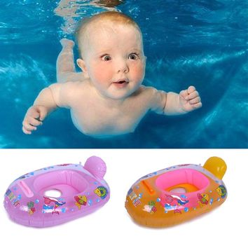 Baby Boys Girls Swim Pool Water Sports Inflatable Float Swimming Laps Rings Seat Boat Toys Random Color