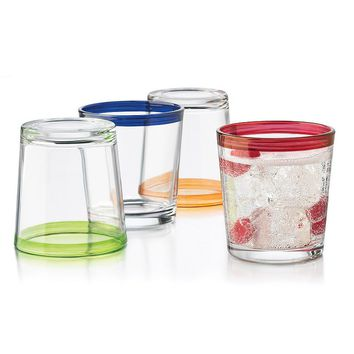 Libbey Mucho Colors 4-pc. Double Old-Fashioned Glass Set (Clear)