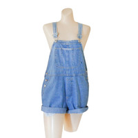 Women Denim Overall Shorts Denim Shortall Denim Bib Overall Short 90s Overall Blue Jean Overall Over All Dungaree Salopette Femme