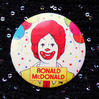 Vintage Ronald McDonald McDonalds Pin Badge