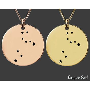 Leo Constellation Necklace | Rose Gold or Gold Zodiac Necklace