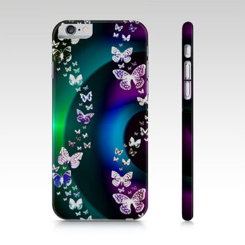 Moonlit Butterfly Swirl, iPhone 6/6S, 5/5S, , iPad Mini 2,3 or 4, Phone Case,  Butterflies Cell Phone Case ipad mini case, accessories