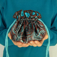 MYSTIC Luxury Bag - Cord Drawstring Jewelry Pouch - Traveling Jewelry Tote