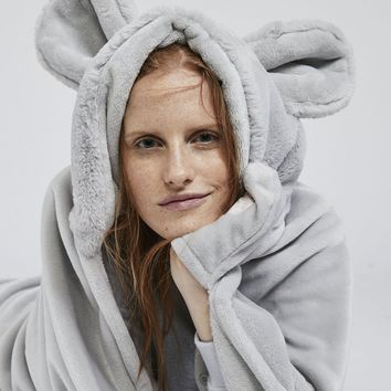 Oysho Wool blanket Cute Mouse Cover
