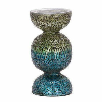 Alluring Metal Mosaic Candle Holder