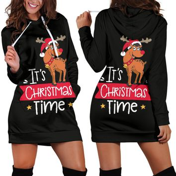 Women's Hoodie Dress - Christmas