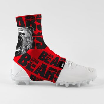 Bears Red Spats / Cleat Covers