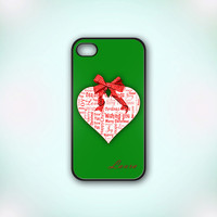 Christmas Quote Personalized Name - Design Print for iPhone 4/4s Case or iPhone 5 Case - Black or White
