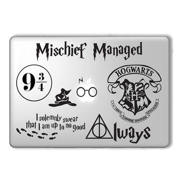 Harry Potter Decal Set laptop Sticker for Macbook Pro Air Retina 11 13 15.6 Inch Mac Case Cover Skin Stciker Adesivo Pegatina