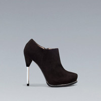 PLATFORM ANKLE BOOT WITH ZIP - Shoes - Woman - ZARA United States