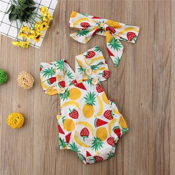 Tootie Fruity's Romper with matching Headband (2pc Set)