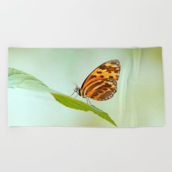 Butterfly Love Beach Towel by Tanja Riedel