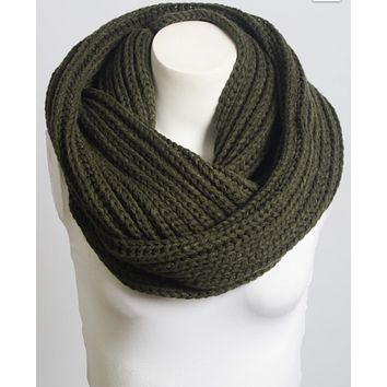 Beautiful Navy Blue Chunky Braided Infinity Scarf