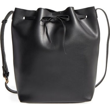 'Blackwood' Faux Leather Bucket Bag