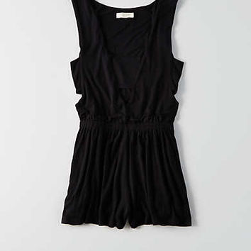 AEO Cut Out Romper , True Black