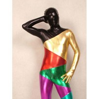 Catsuits & Zentai Multicolor Shiny Metallic Zentai suit [TOQ110915003] - $45.99