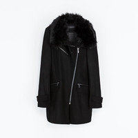 COAT WITH FUR COLLAR - Coats - WOMAN | ZARA United States