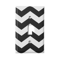 Black and White Chevron Striped Switch Plate | Icing