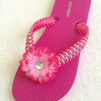 Flip Flops for GIRLS. Handcrafted with satin ribbon.