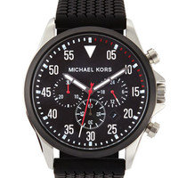 Mens Black Tire-Tread Gage Chronograph Watch