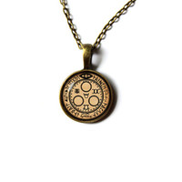 Silent Hill pendant Occult jewelry Magic necklace Antique style n216