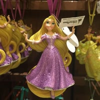disney parks princess rapunzel glitter resin christmas ornament new with tag