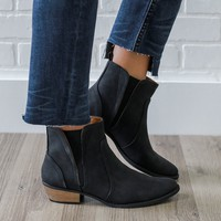 Crossing Paths Booties - Black