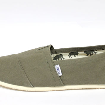 Toms Men's Classics Olive Canvas Shoes