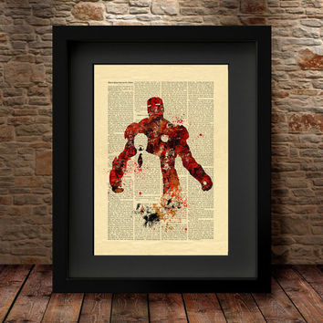 Iron Man Art Print, Avengers print, Superhero poster, Iron Man Poster, Marvel print, Wall art, Gift for him, Home Decor, Avengers Art - 78